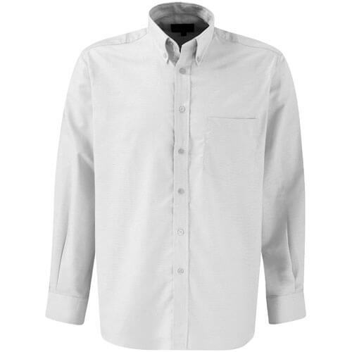 Dickies Mens Oxford Weave Shirt Long Sleeve White 15