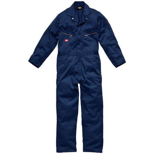 Dickies Mens Deluxe Overalls Navy Blue Large Regular Leg