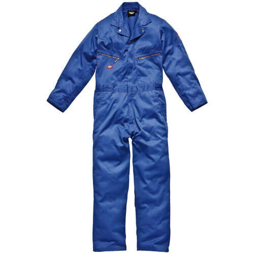Dickies Mens Deluxe Overalls Royal Blue 2XL Tall Leg