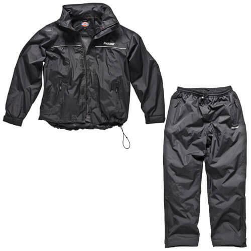 Dickies Childrens Vermont Waterproof Suit Black Ages 7-8