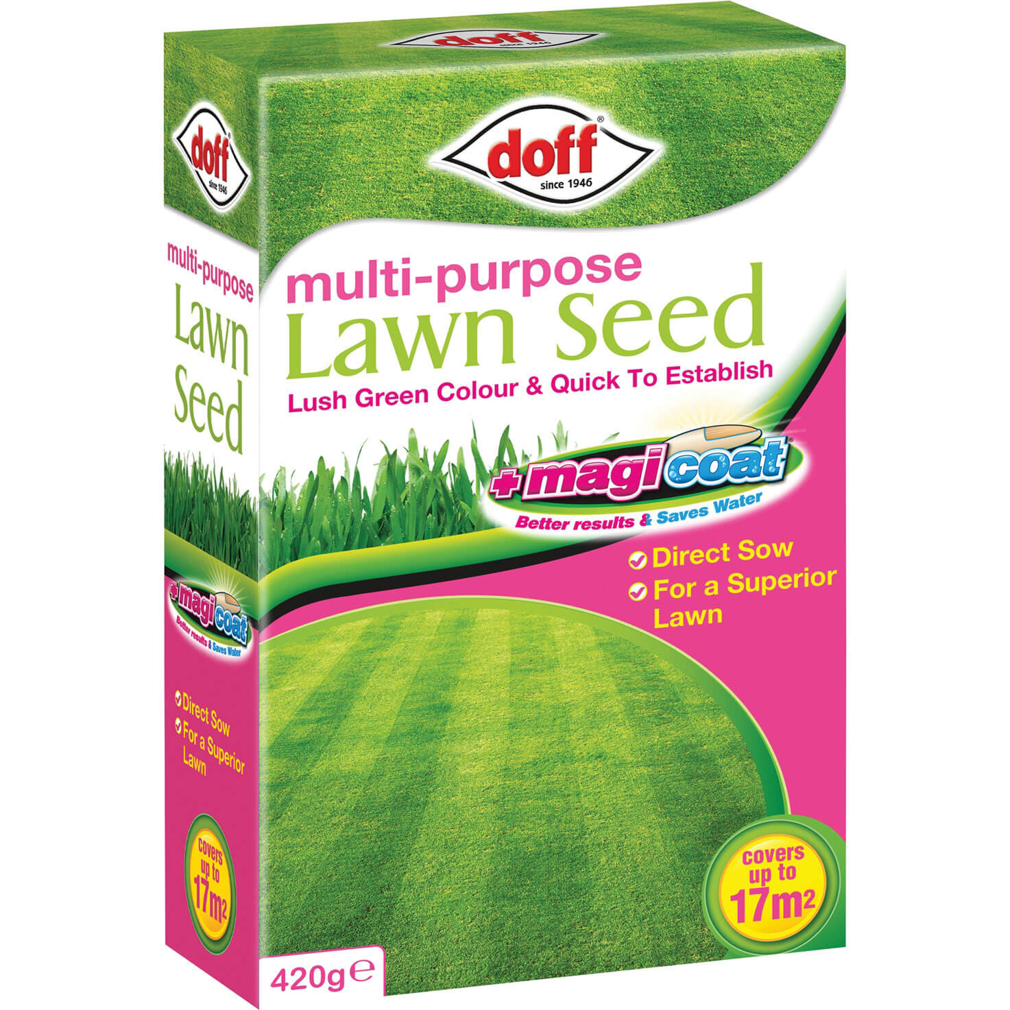 Doff Multi Purpose Magicoat Lawn Seed 420g