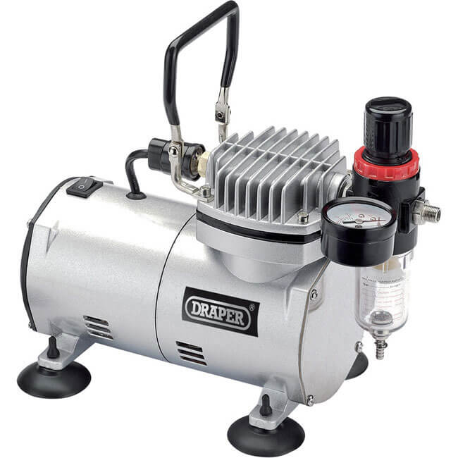 Draper Expert Oil Free Air Brush Air Compressor 240v