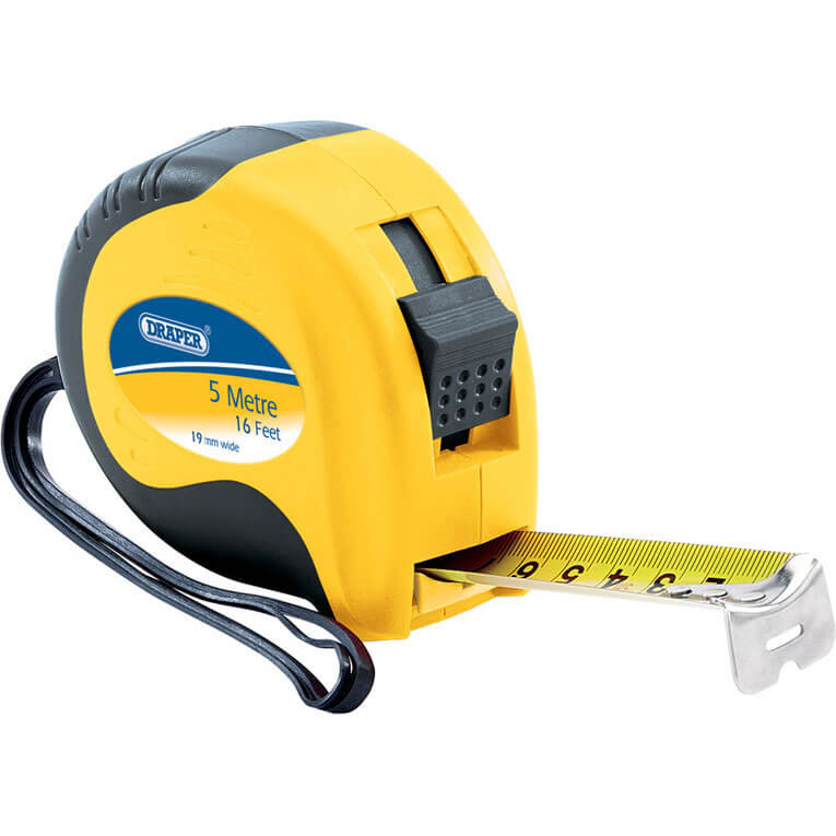 Draper Soft Grip 5 Metre / 16 Feet Tape Measure