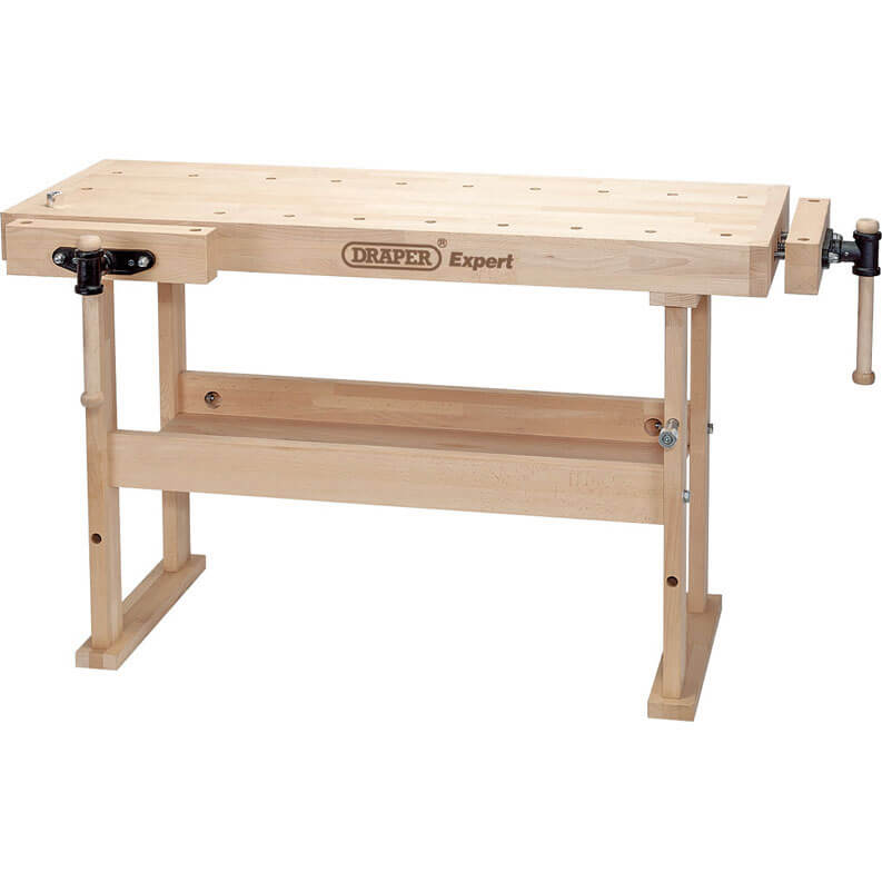 Tooled Up/Tools/Storage & workbenches/Draper Professional Beech Wooden Workbench 1495mm with 2 Vices