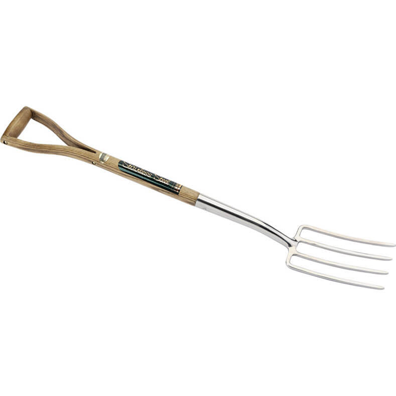 Draper Expert Stainless Steel Border Fork with Ash Handle