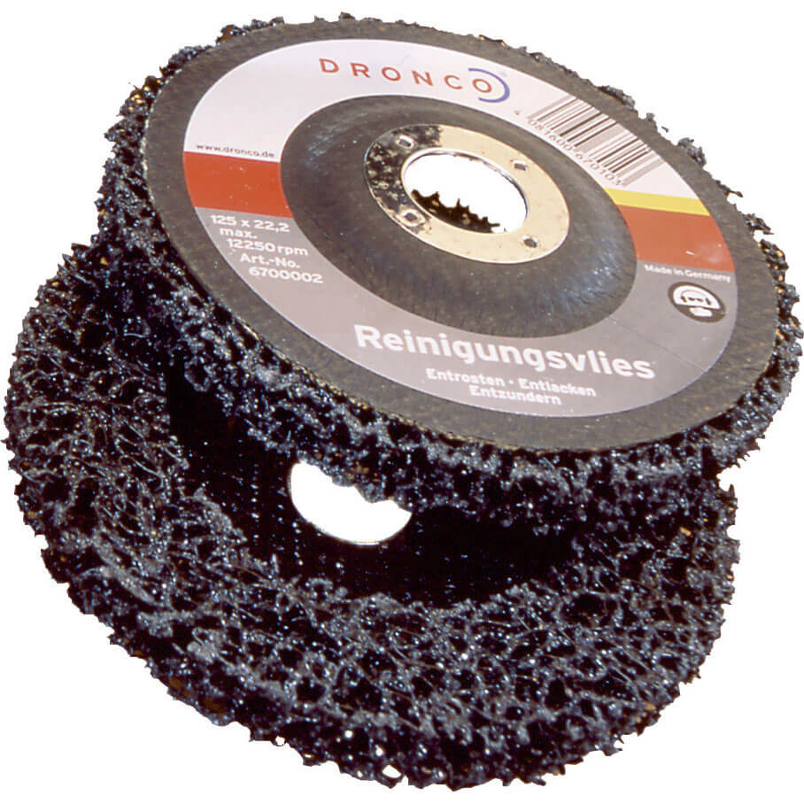 Dronco 115mm x 22mm Bore Angle Grinder Cleaning Fleece Disc Coarse