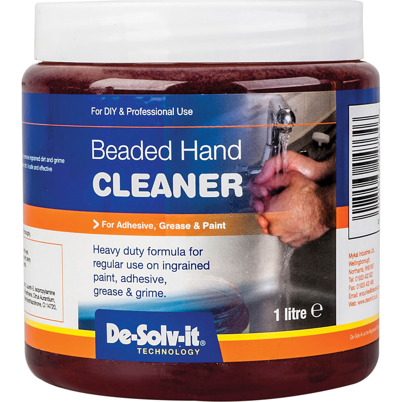 Image of De-Solv-It Heavy-Duty Beaded Hand Cleaner 1L