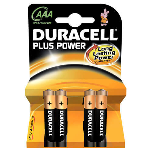 Duracell Plus AAA Batteries Pack of 4