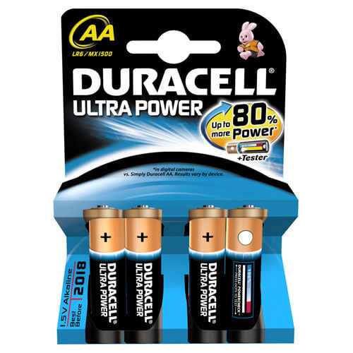 Duracell Ultra Power AA Batteries Pack of 4