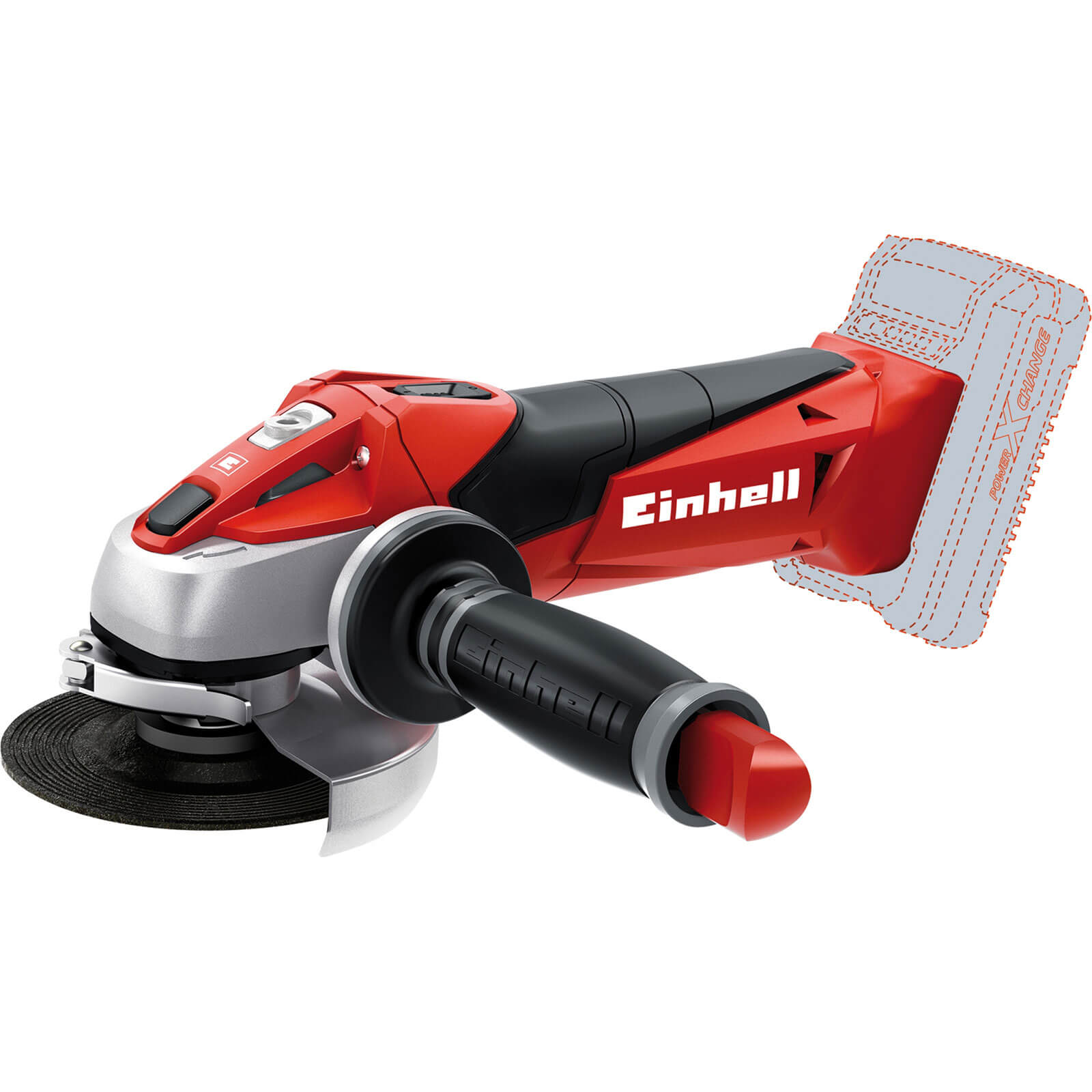 Einhell TE-AG 18LI 18v Power X-Change Cordless Angle Grinder without Battery or Charger