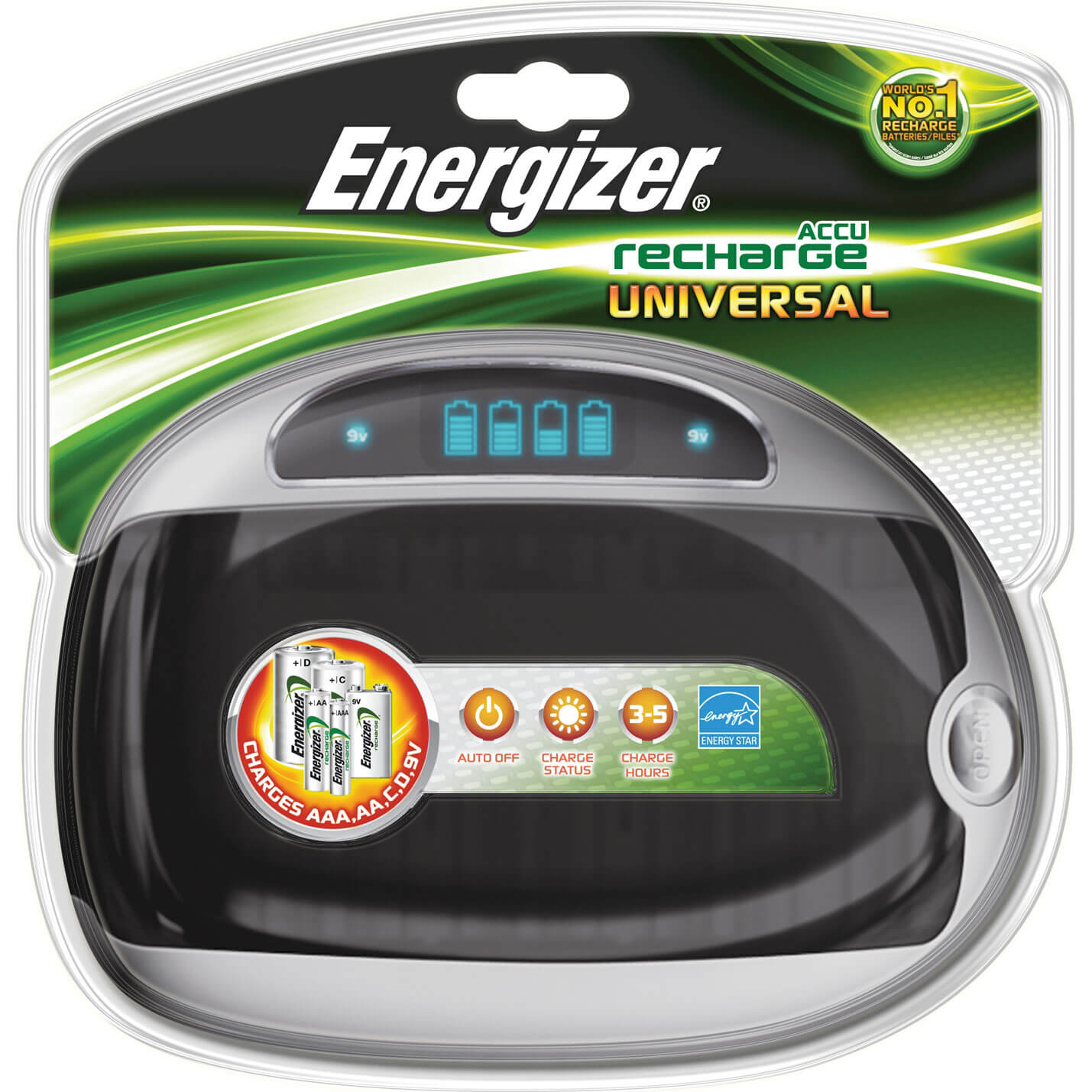 Energizer Universal AA / AAA / 9v / C / D Battery Charger