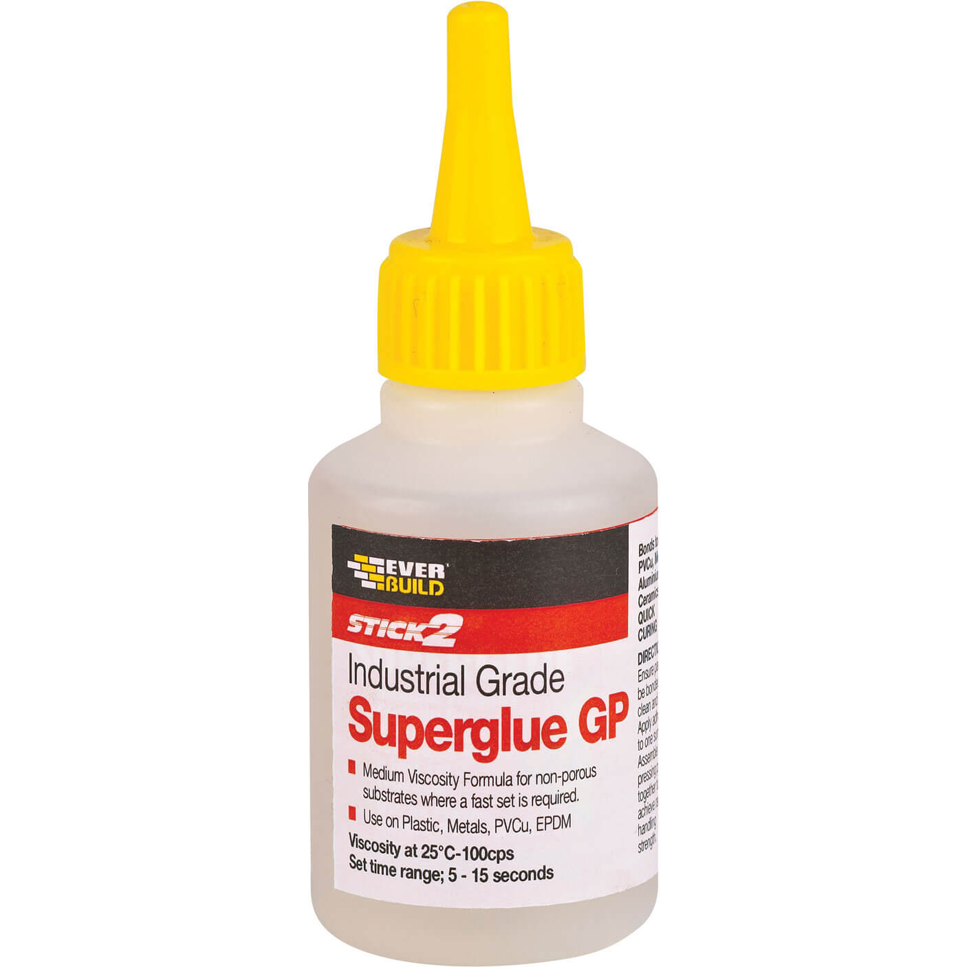 Tooled Up/Sealants & Adhesives/Adhesives/Everbuild Industrial Superglue General Purpose 20g