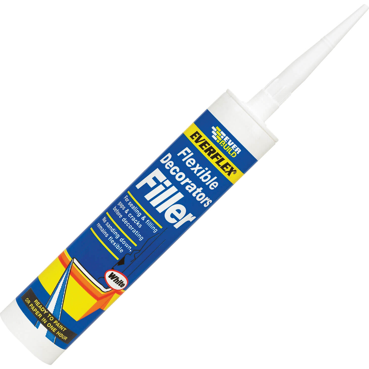 Tooled Up/Sealants & Adhesives/Fillers/Everbuild Flexible Decorat Filler White 310ml