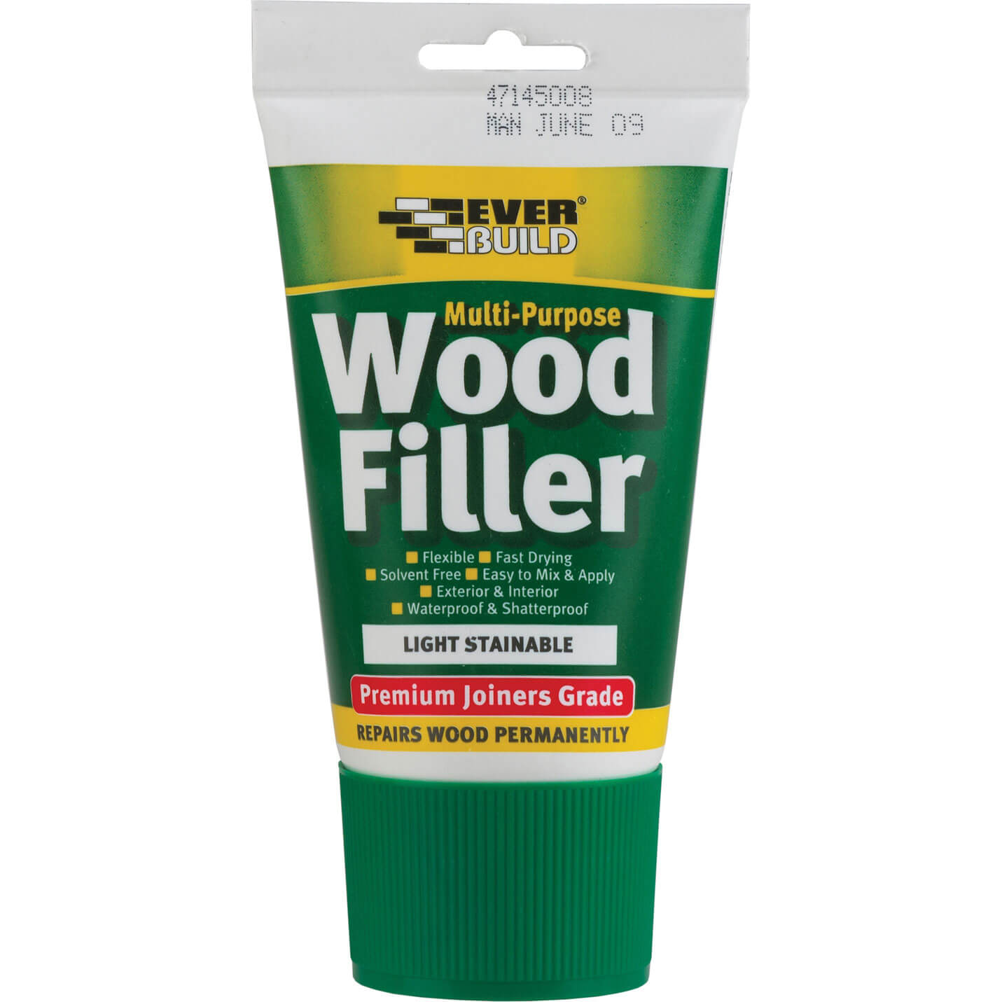 Tooled Up/Sealants & Adhesives/Fillers/Everbuild Multi Purpose Premium Joiners Grade Wood Filler Easi Squirt Light 100ml