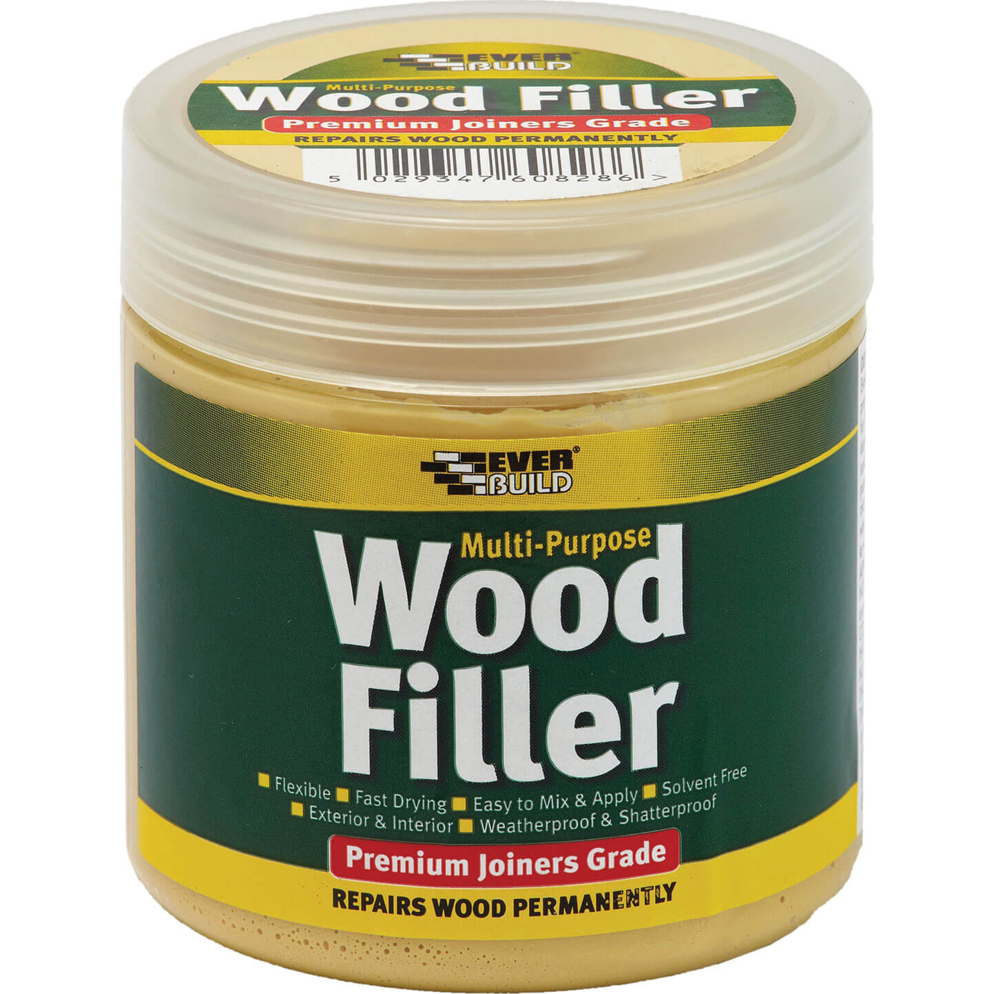 Tooled Up/Sealants & Adhesives/Fillers/Everbuild Multi Purpose Premium Joiners Grade Wood Filler Light Oak 250ml
