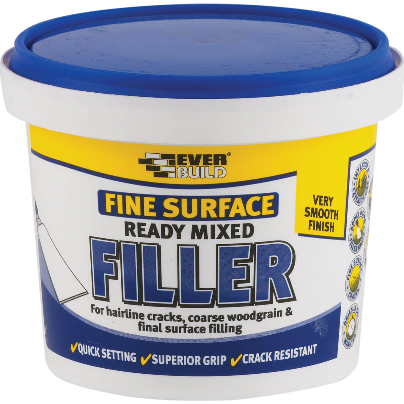 Tooled Up/Sealants & Adhesives/Fillers/Everbuild Fine Surface Filler Ready Mixed 600g