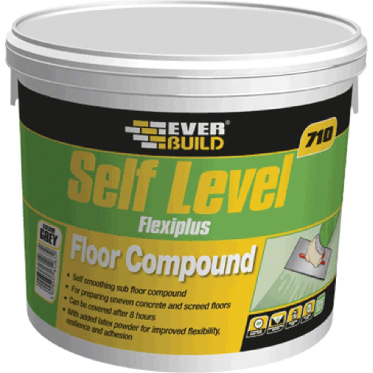 Everbuild 710 Self Level Flexiplus Floor Compound 10kg Tub