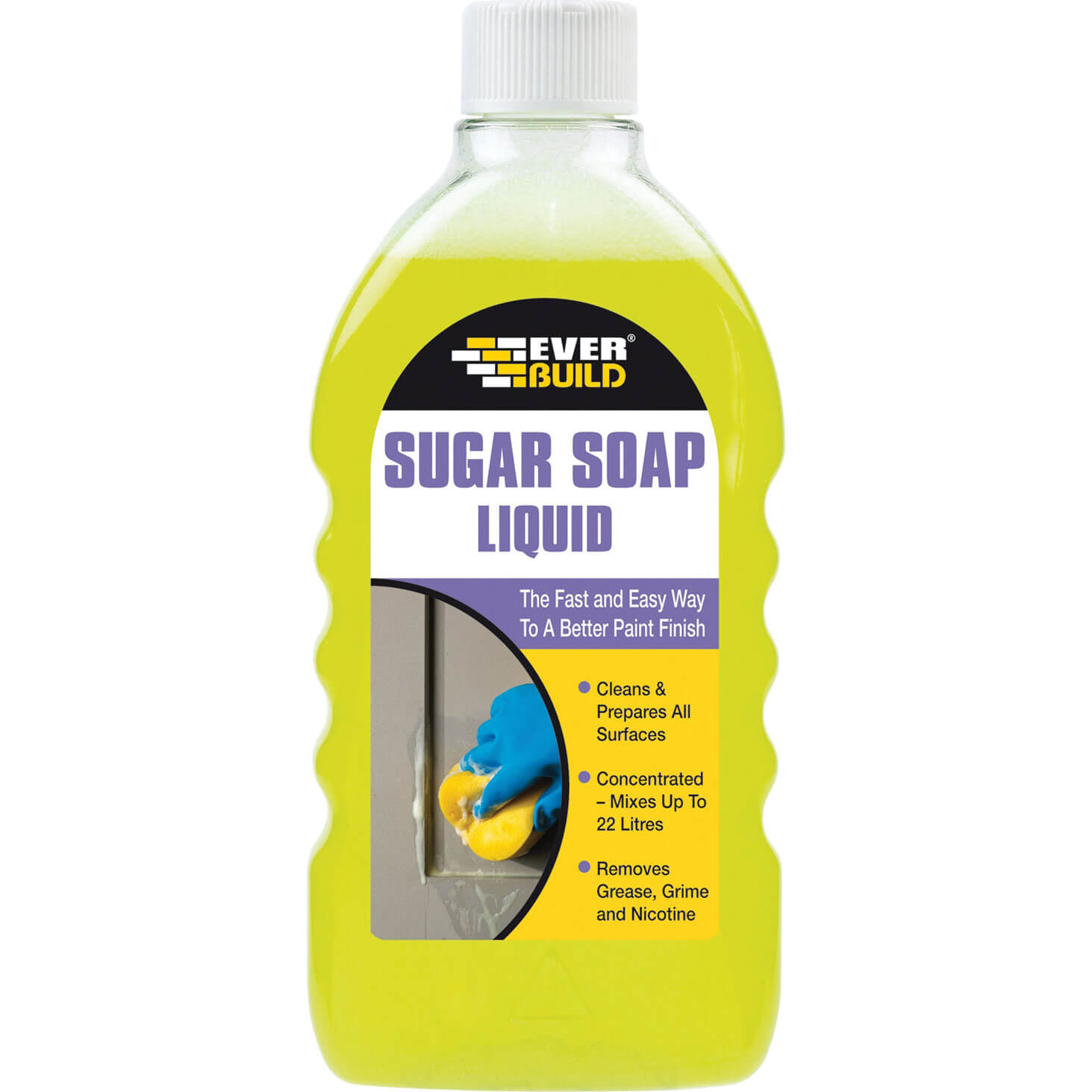 Tooled Up/Cleaning & Decorating/Paint & Woodcare/Everbuild Sugar Soap Liquid 500ml