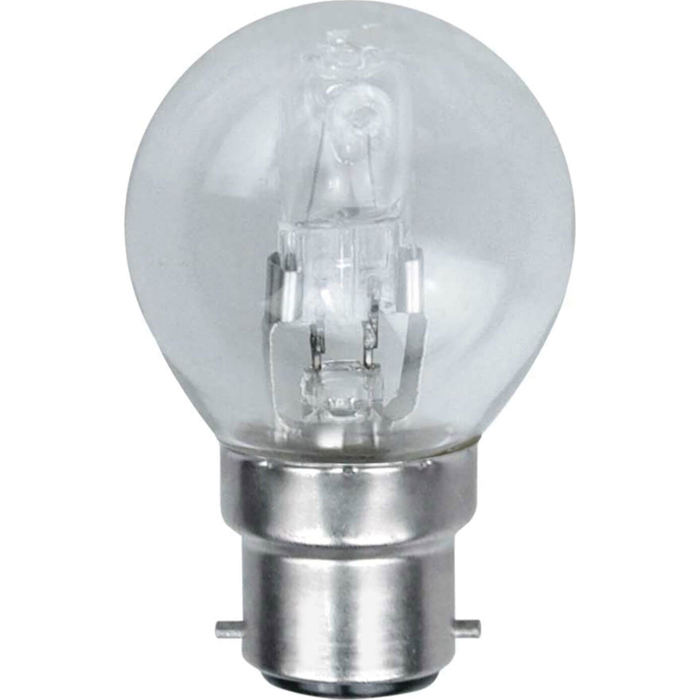 Image of Eveready Energy Save G45 Halogen Golf Bulb BC / B22 Bayonet Cap 28w