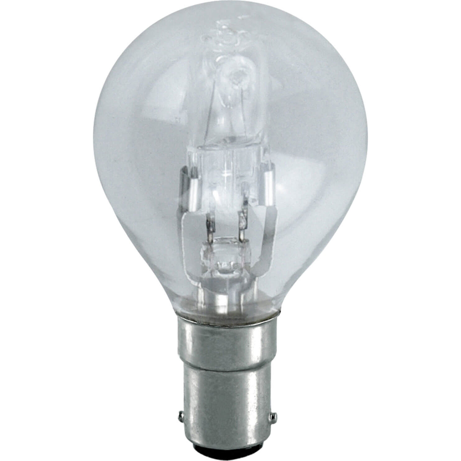 Image of Eveready Energy Save G45 Halogen Golf Bulb SBC / B15 Small Bayonet Cap 28w