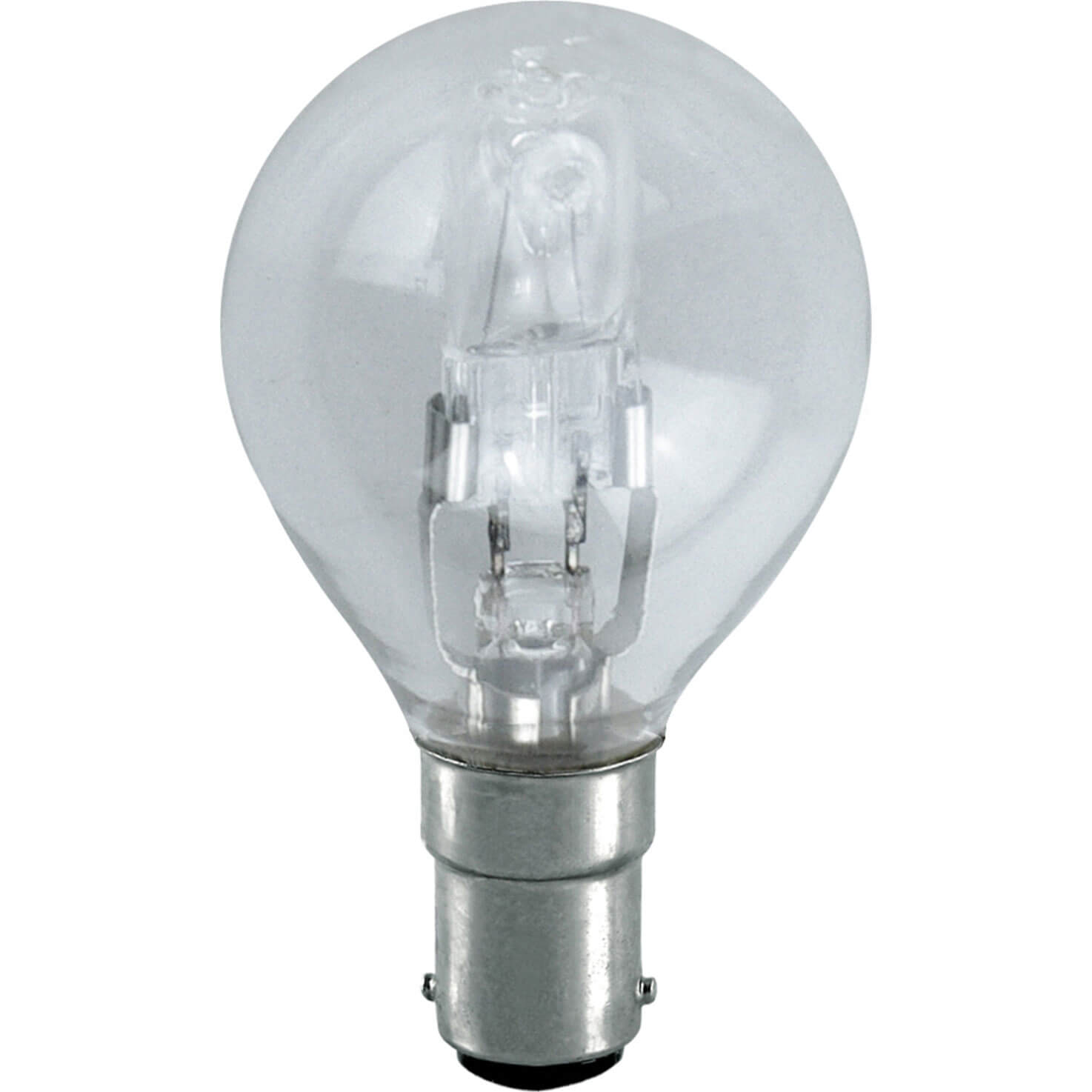 Image of Eveready Energy Save G45 Halogen Golf Bulb SBC / B15 Small Bayonet Cap 42w