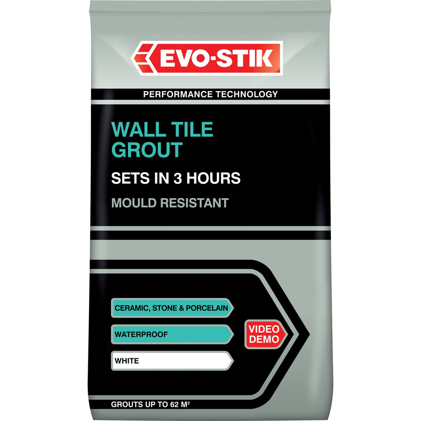 Tooled Up/Building & Timber Products/Building materials & accessories/EvoStick Tile A Wall Fast Set Grout for Ceramic Tiles White 500g