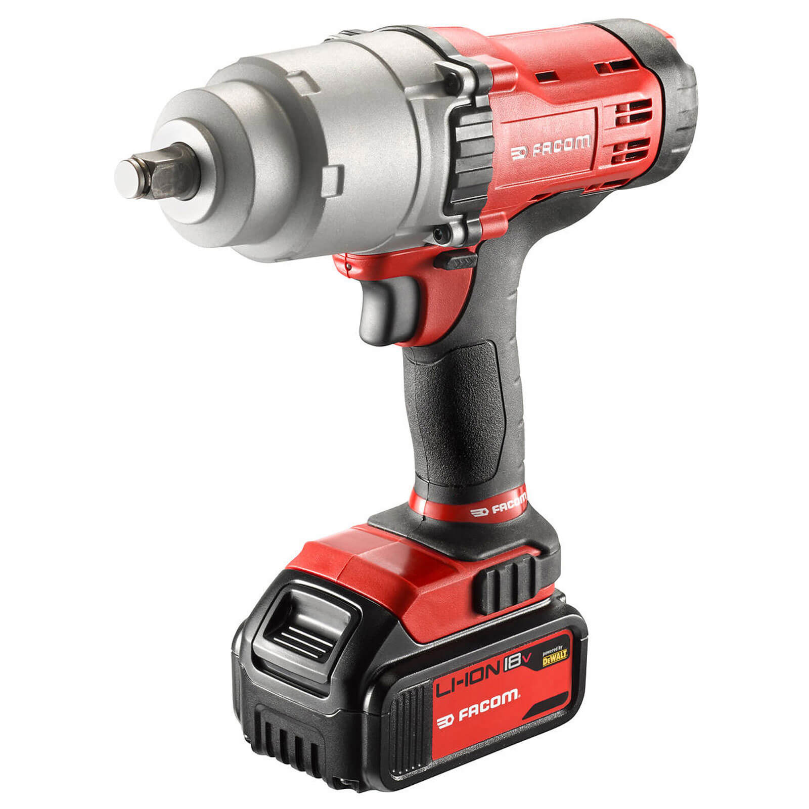 Facom CL3.C18S 18v Cordless 12&quot Square Drive Impact Wrench with 2 Lithium Ion Batteries 3ah