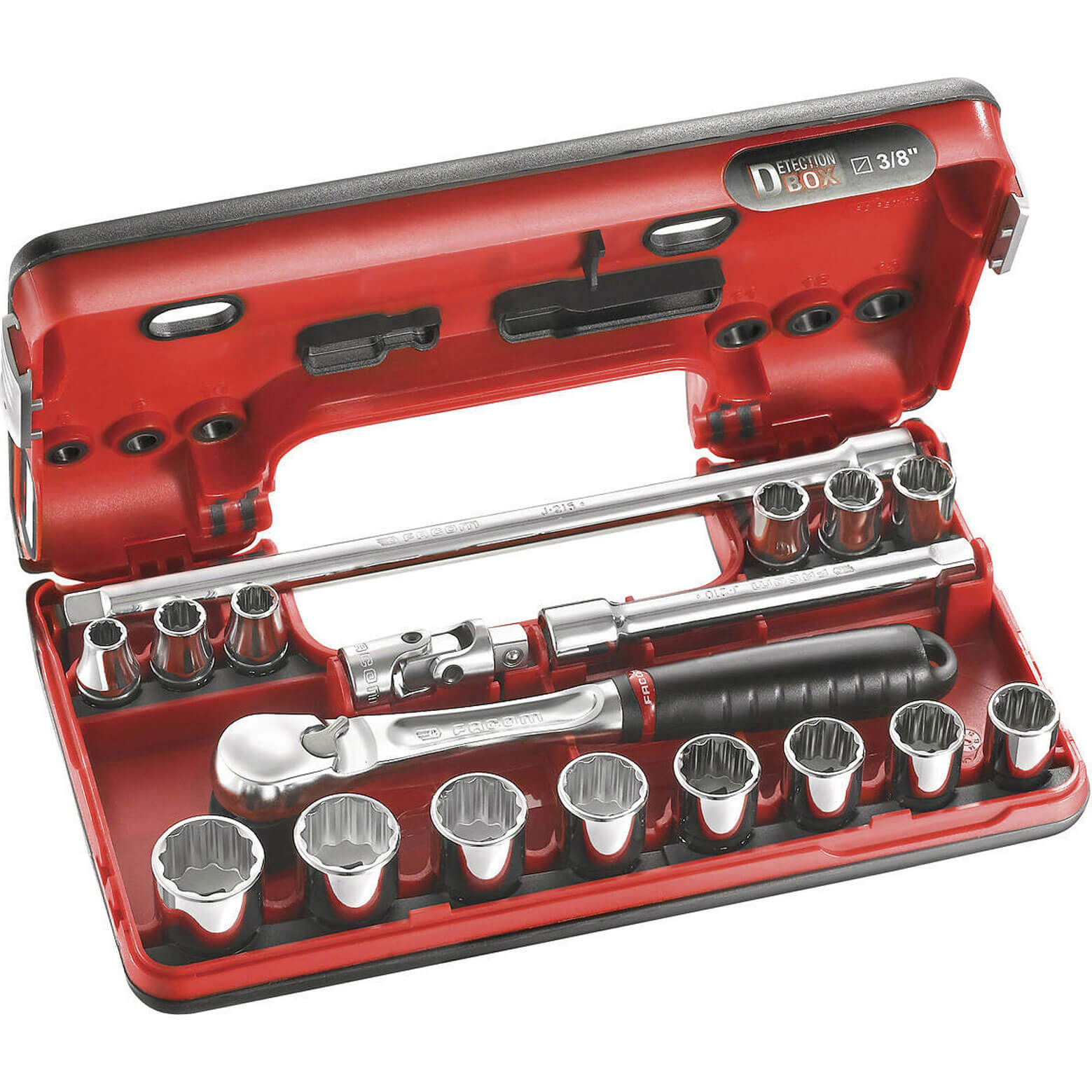 Facom 38&quot 17 Piece Bi Hexagon Socket Set Metric in Detection Case