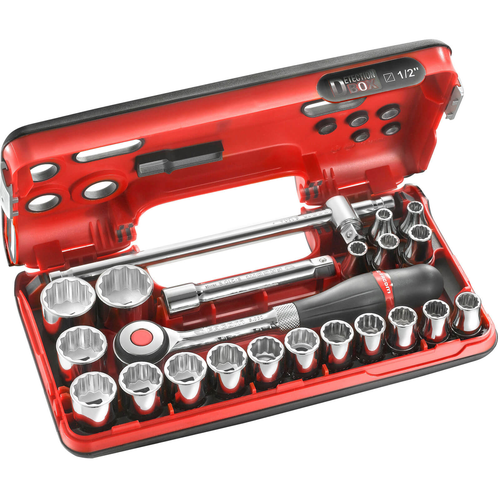 Facom 22 Piece 12&quot Drive Bi Hex Socket Set in Detection Box