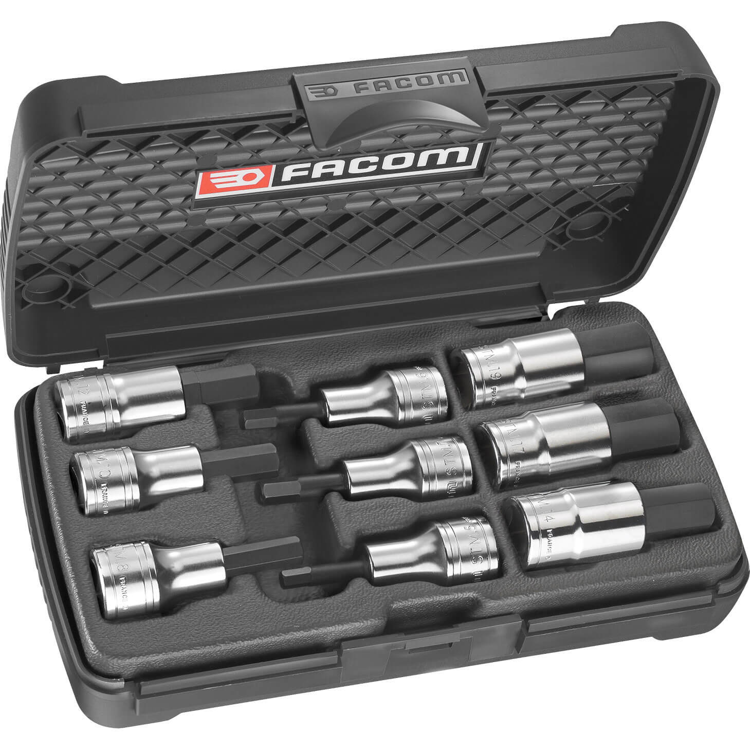 Facom 9 Piece Hexagon Socket Bit 5mm  19mm