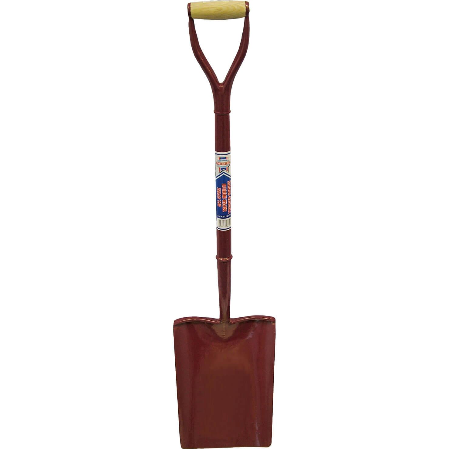 Faithfull All Steel Taper Mouth Shovel Size 2 700mm Handle