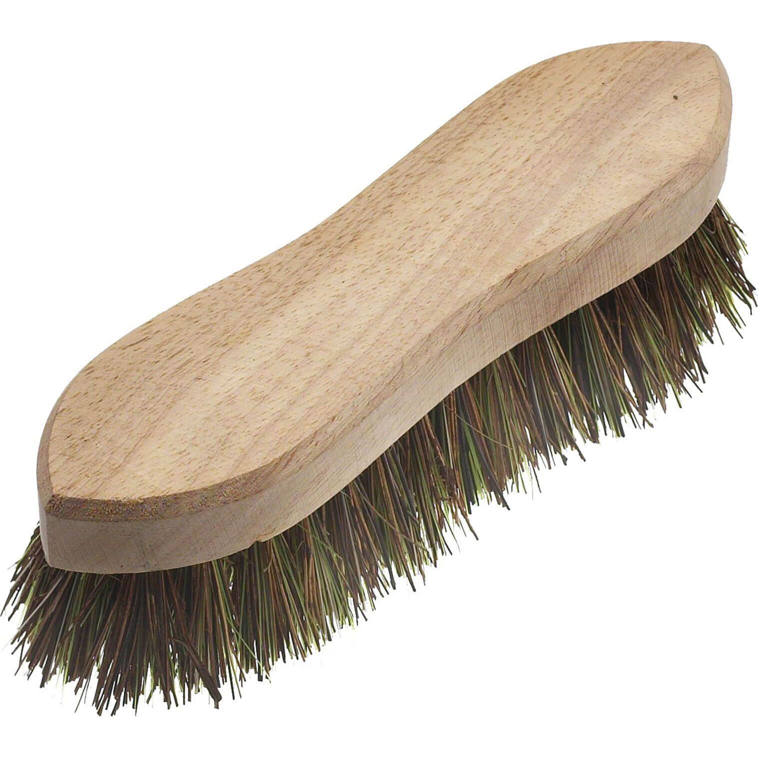 """Tooled Up/Tools/Shovels, brushes & wheelbarrows/Faithfull Hand Scrubbing Brush 200mm / 8"""" Unvarnished"""