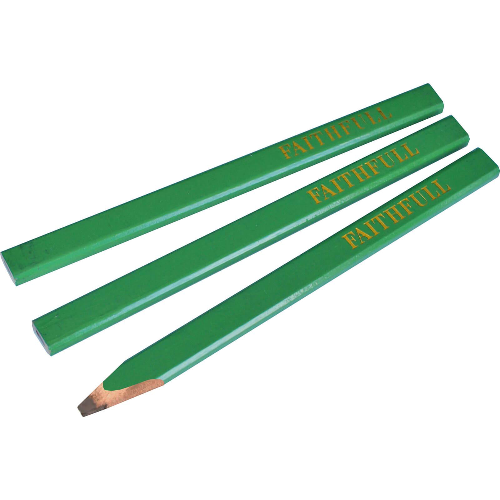 Tooled Up/Tools/Lasers & levelling/Faithfull Carpenters Pencils - Green - Hard