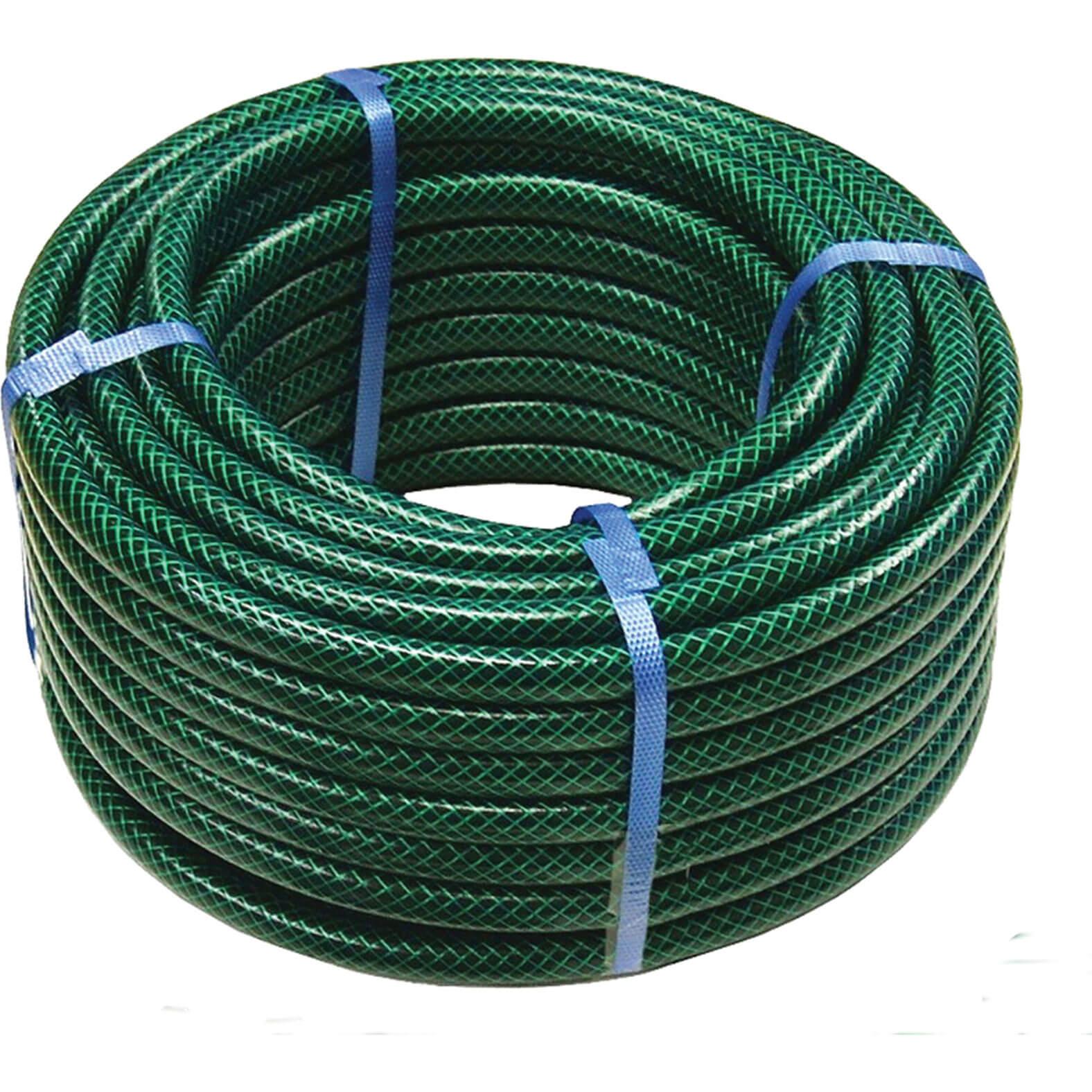 Faithfull 50 Metre PVC Reinforced Hose Pipe 12.5mm (1/2&quot) Dark Green