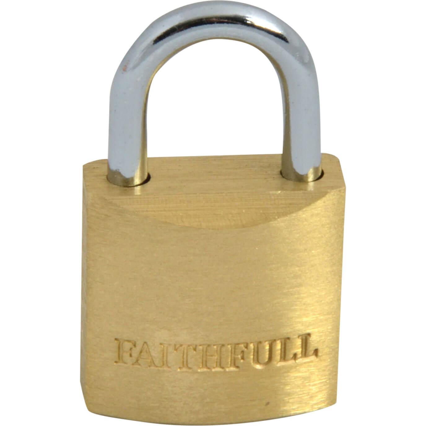 Tooled Up/Ironmongery & Security/Security/Faithfull 20mm Brass Padlock