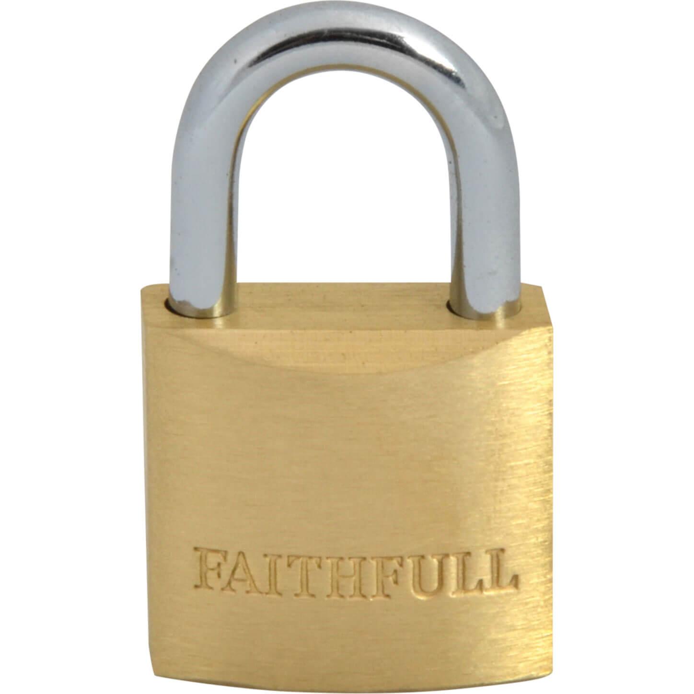 Tooled Up/Ironmongery & Security/Security/Faithfull 25mm Brass Padlock