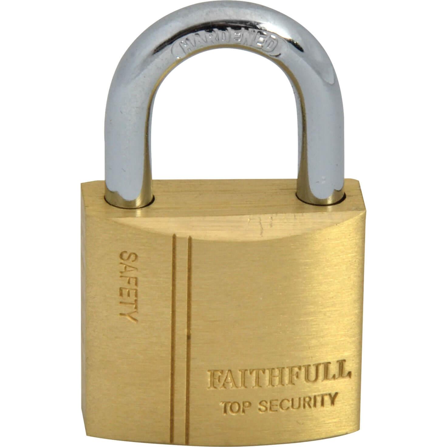 Tooled Up/Ironmongery & Security/Security/Faithfull 30mm Brass Padlock