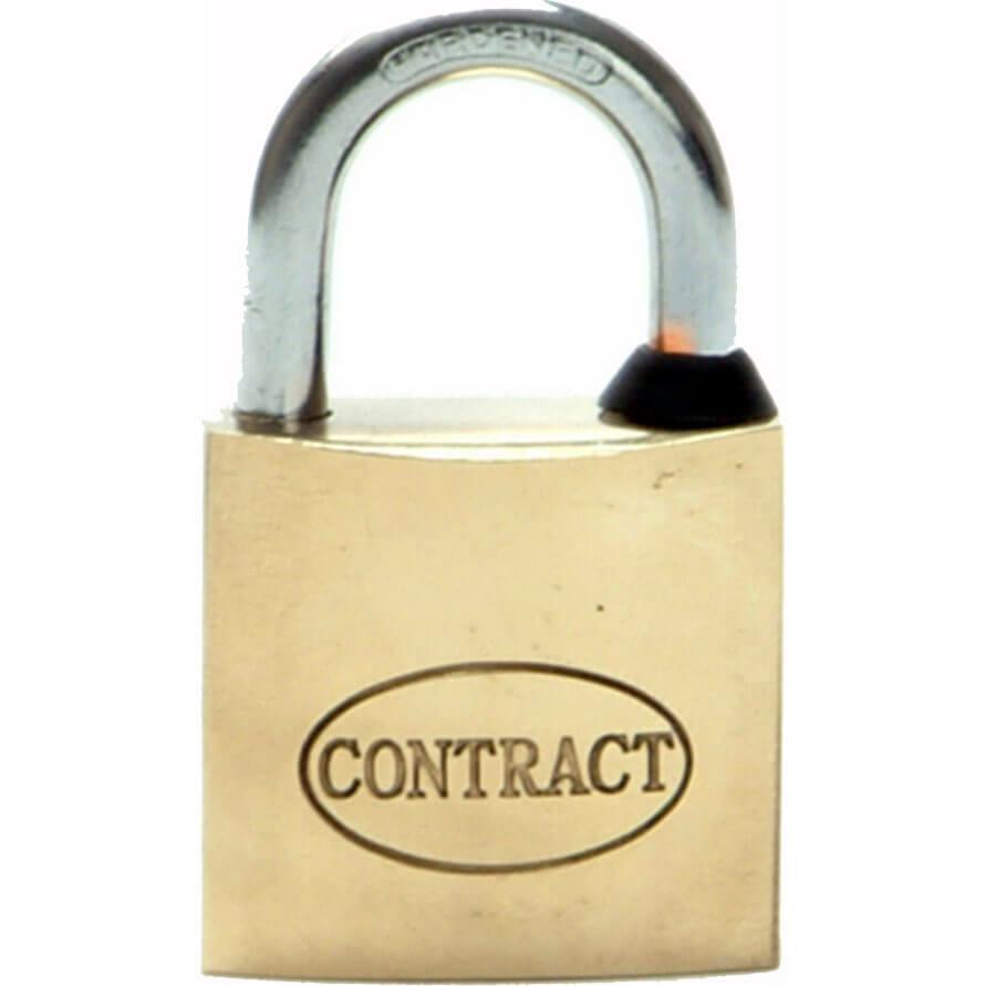 Tooled Up/Ironmongery & Security/Security/Faithfull Contract Padlock Brass 32mm