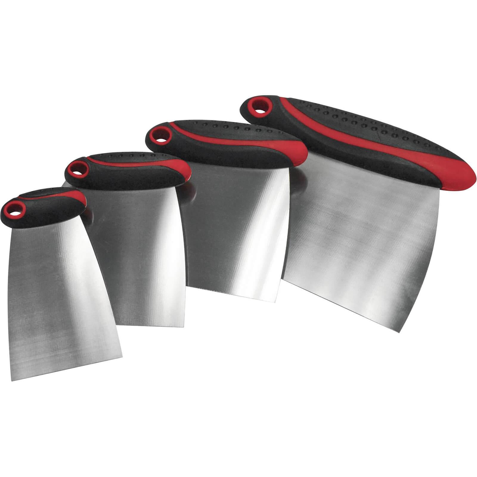 Faithfull 4 Piece Stainless Steel Filler & Spreader Set 50mm - 150mm