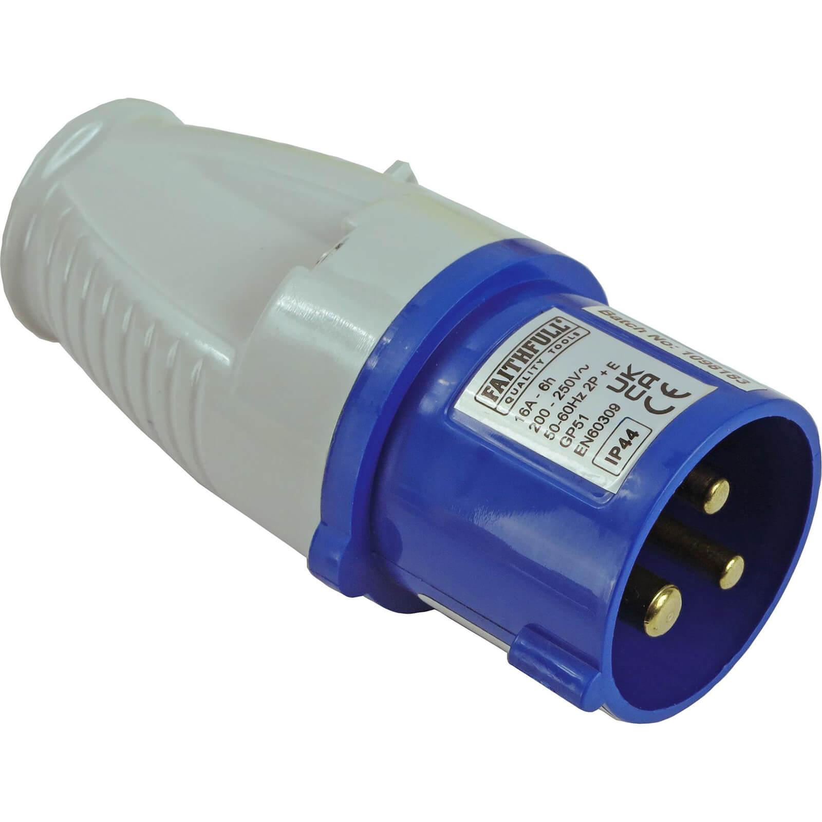 Faithfull Blue Plug 16amp 240v