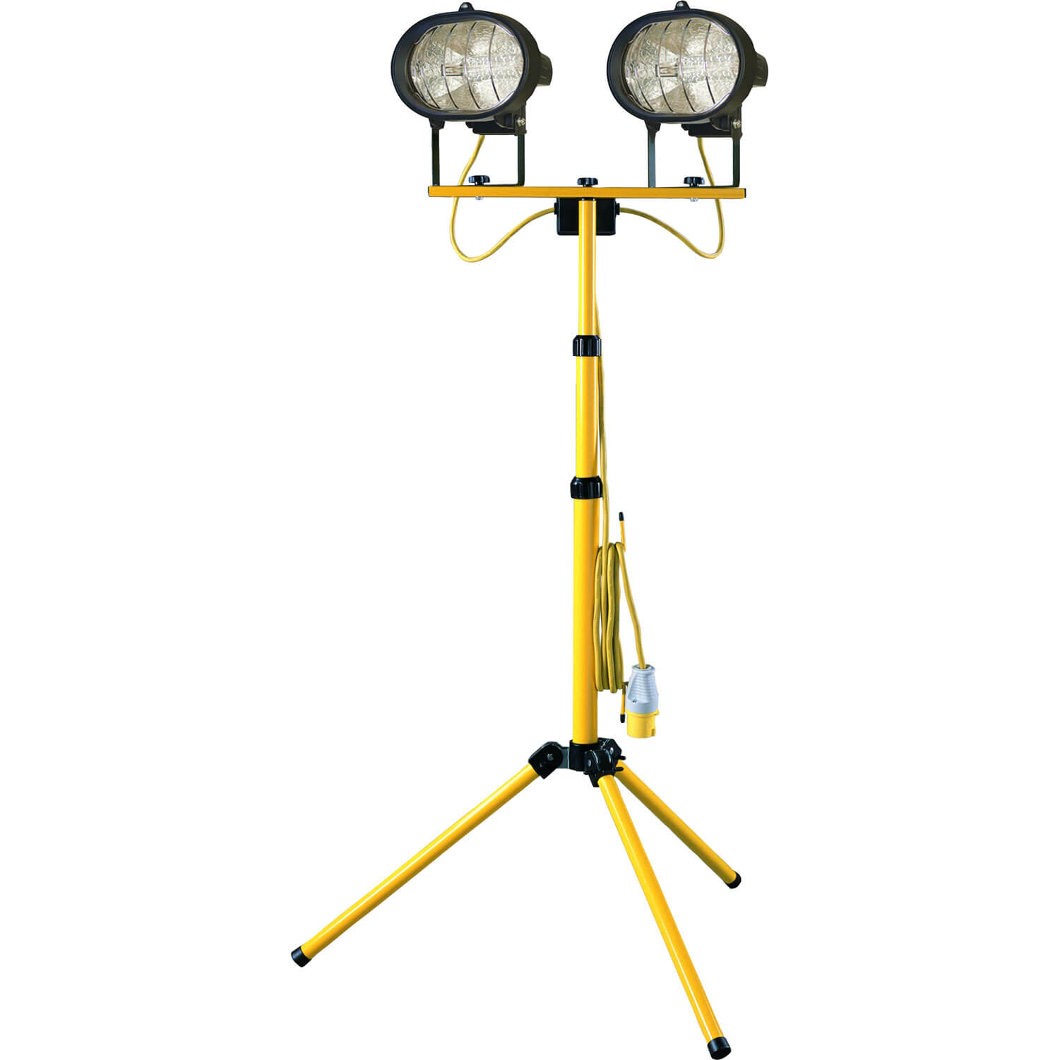 Image of Faithfull Halogen Twin Site Light with Adjustable Stand 1000w 110v