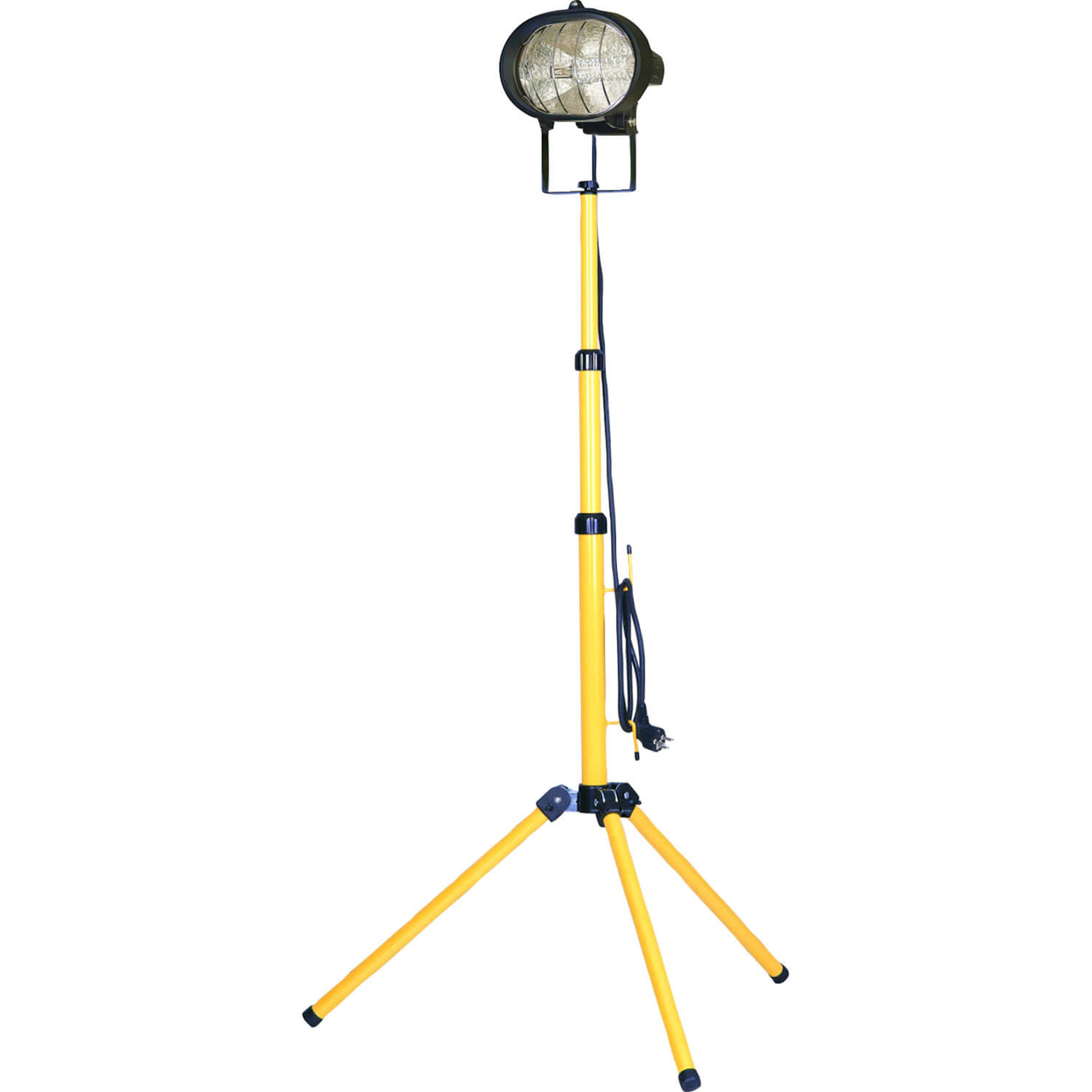 Image of Faithfull Halogen Single Site Light with Adjustable Stand 500w 240v