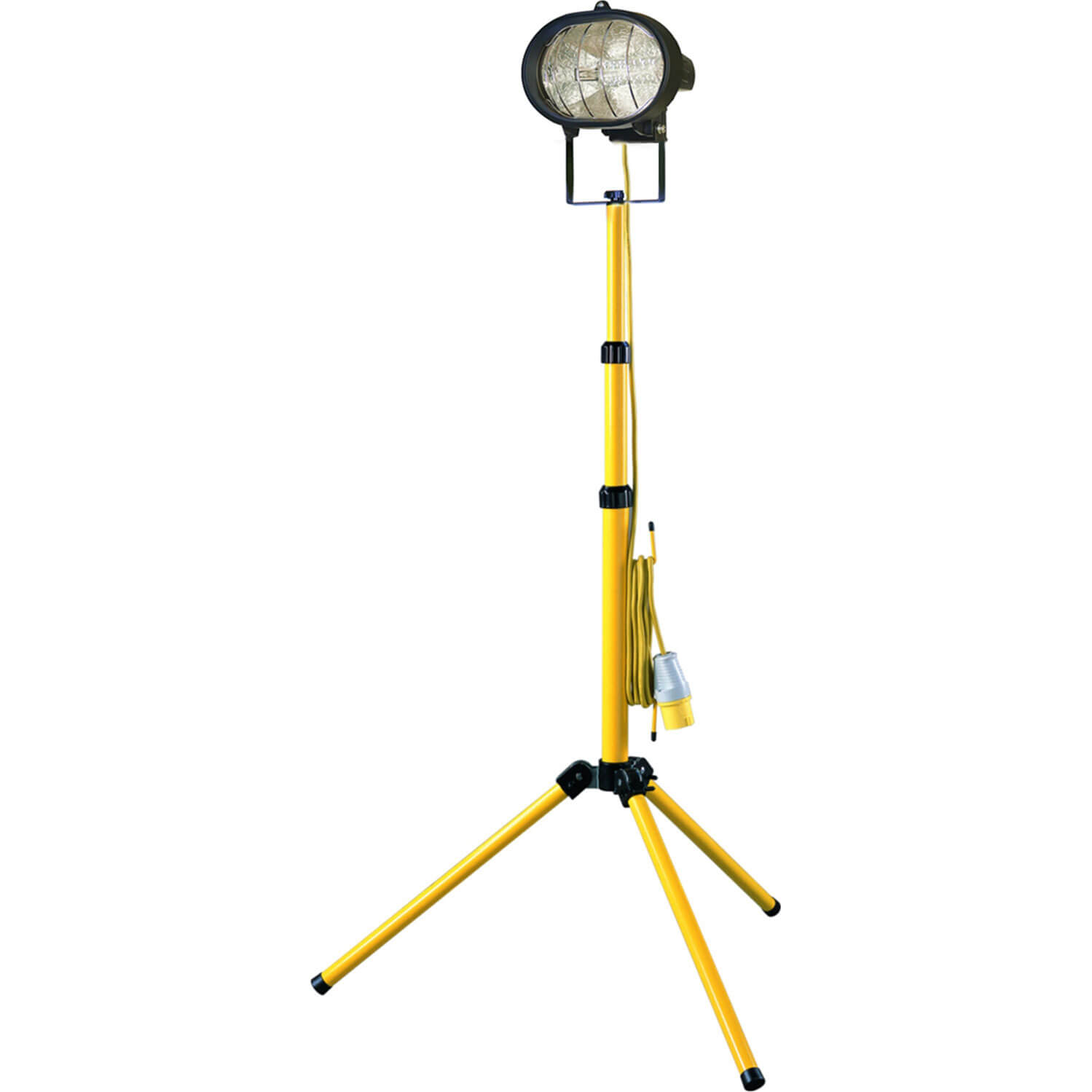 Image of Faithfull Halogen Single Site Light with Adjustable Stand 500w 110v