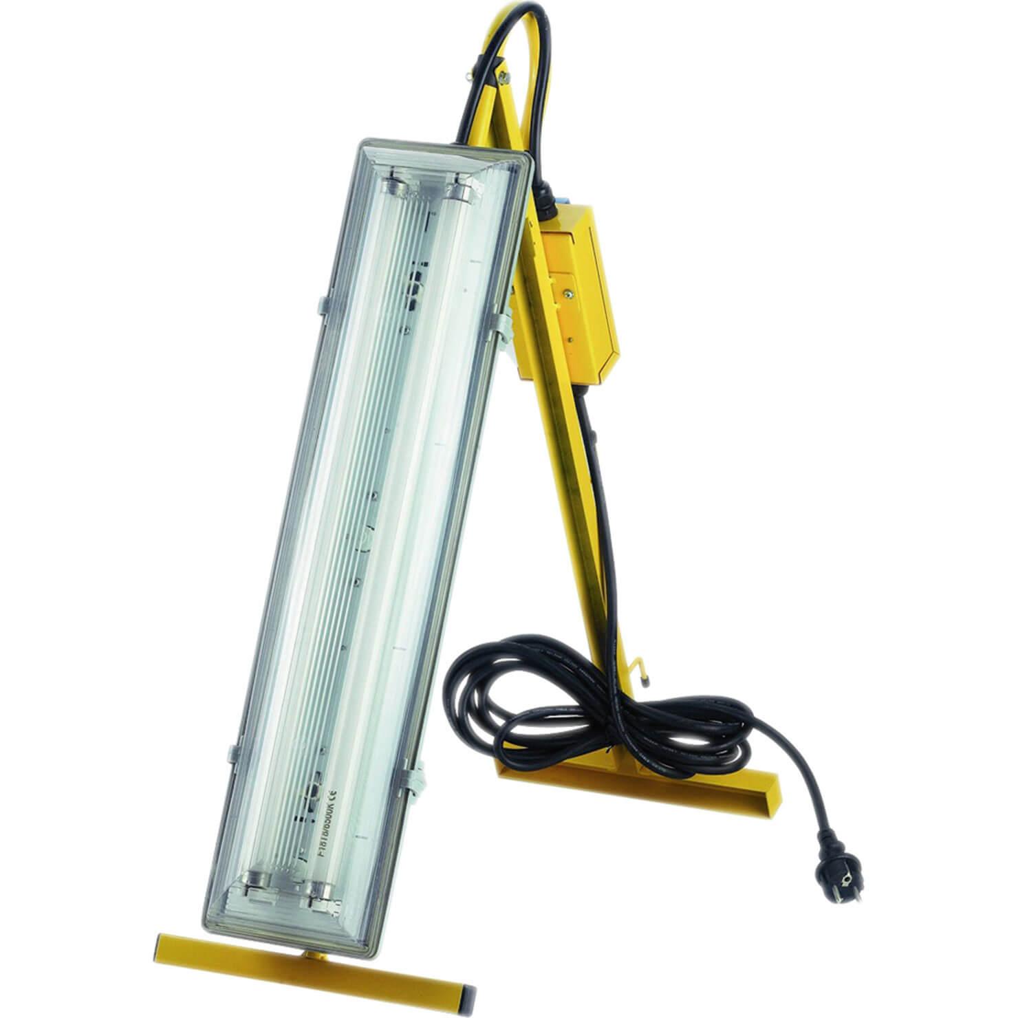 Faithfull Power Plus Plasterers Fluorescent Folding Light 18w 110v