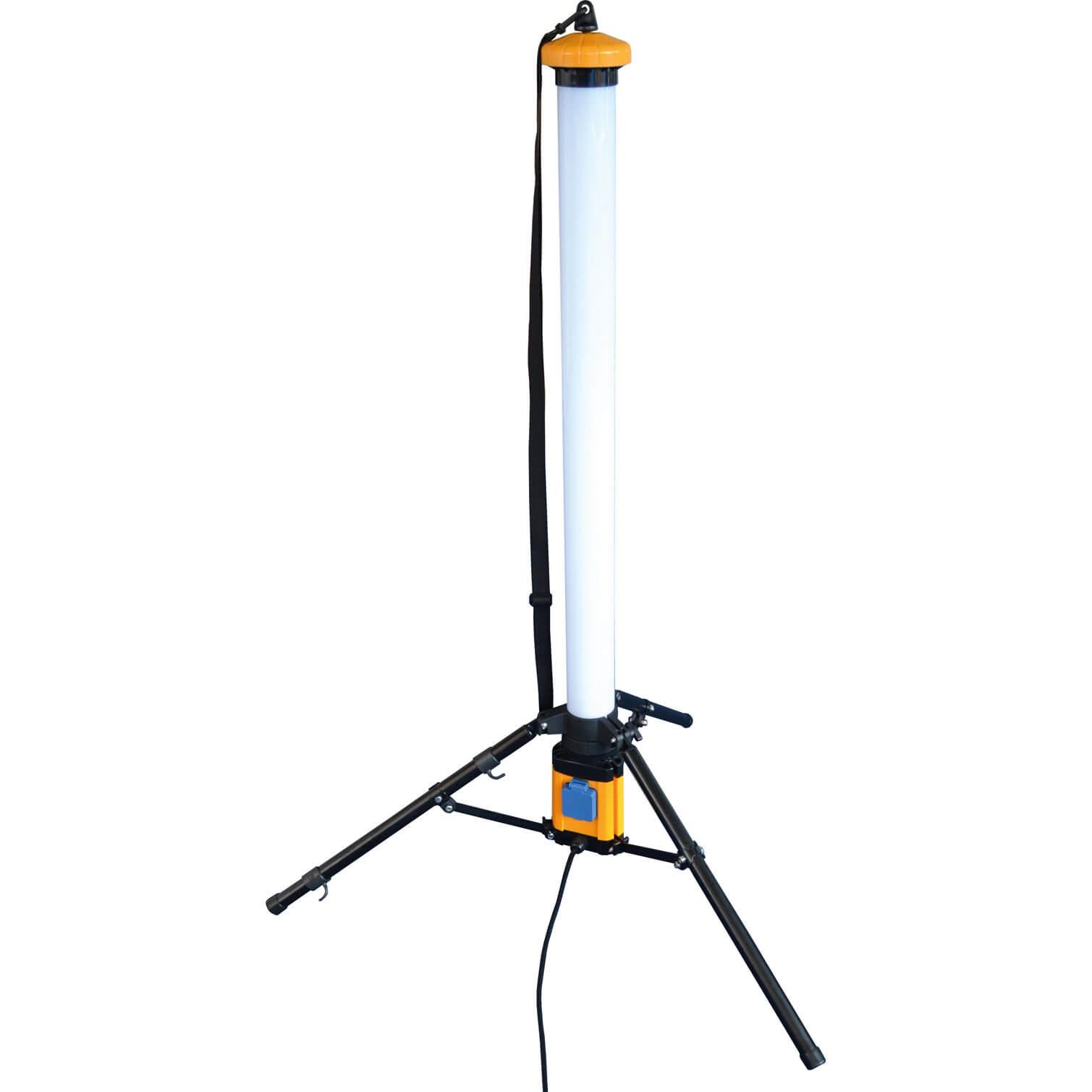 Image of Faithfull 336 LED Pole Work Light on Tripod 3000 Lumens 240v