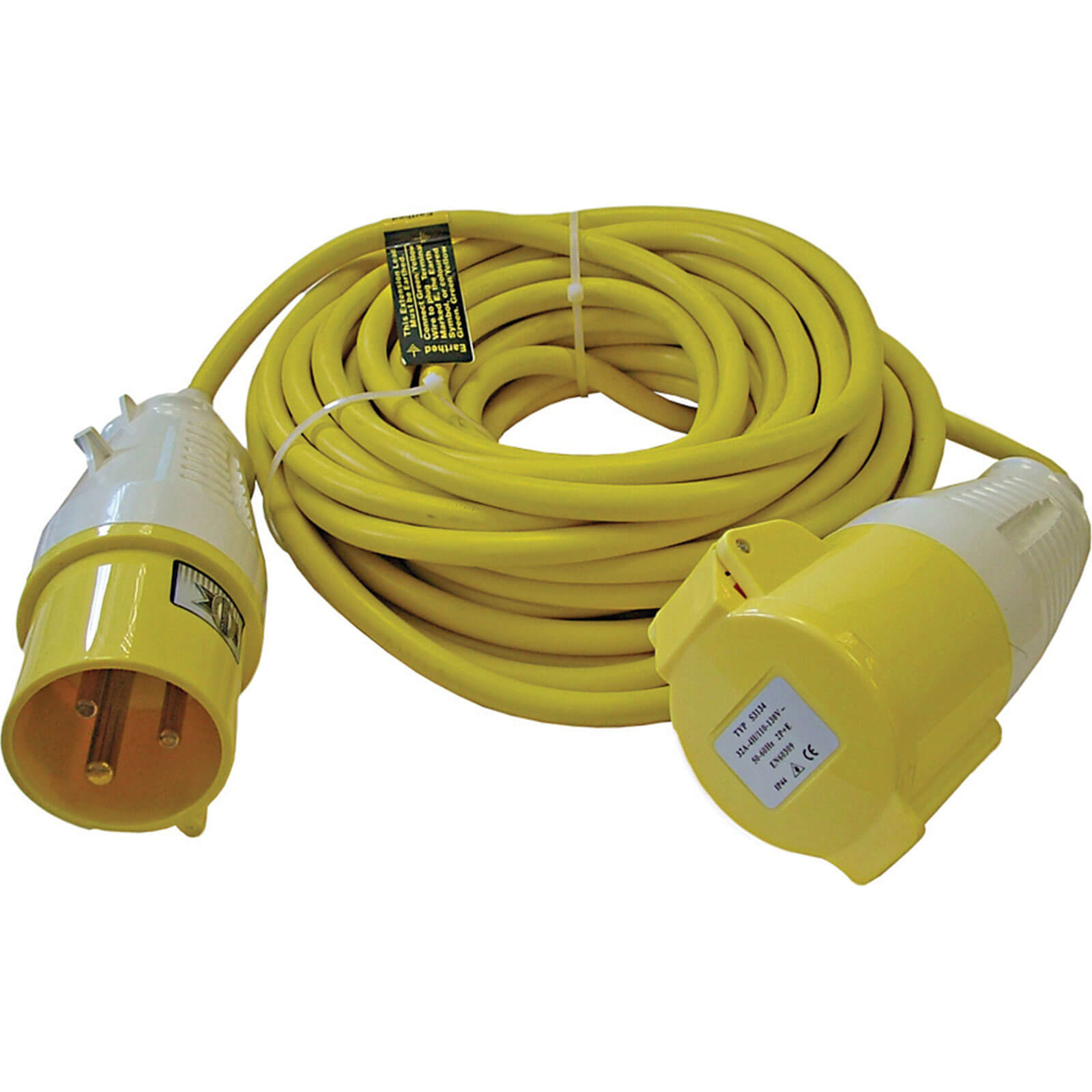 Extension Trailing Lead 14m 32amp 110v Yellow