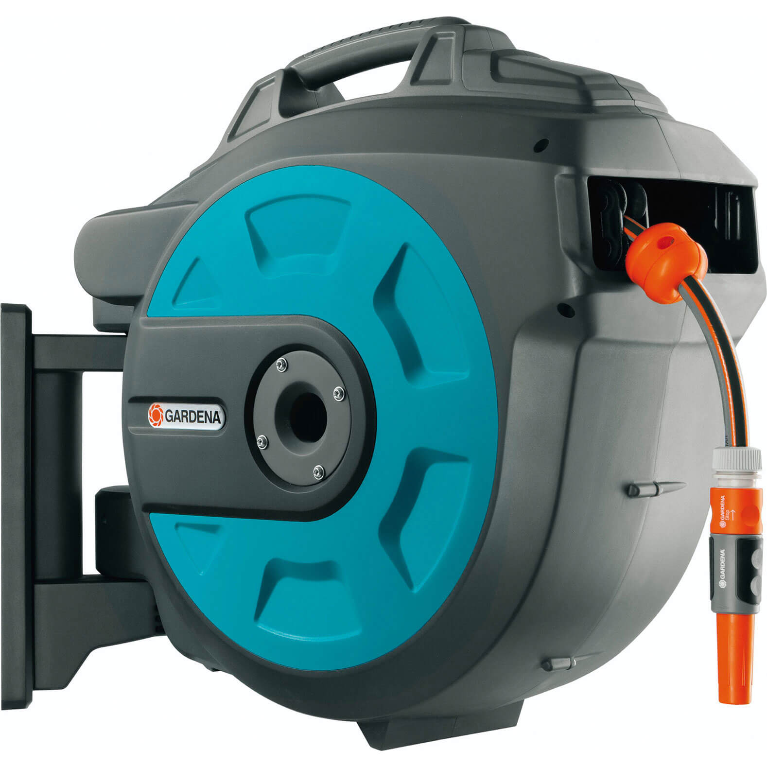Gardena 25 Metre Wall Mounted Auto Hose Reel with 25 Metre Hose Pipe 12.5mm (1/2&quot)