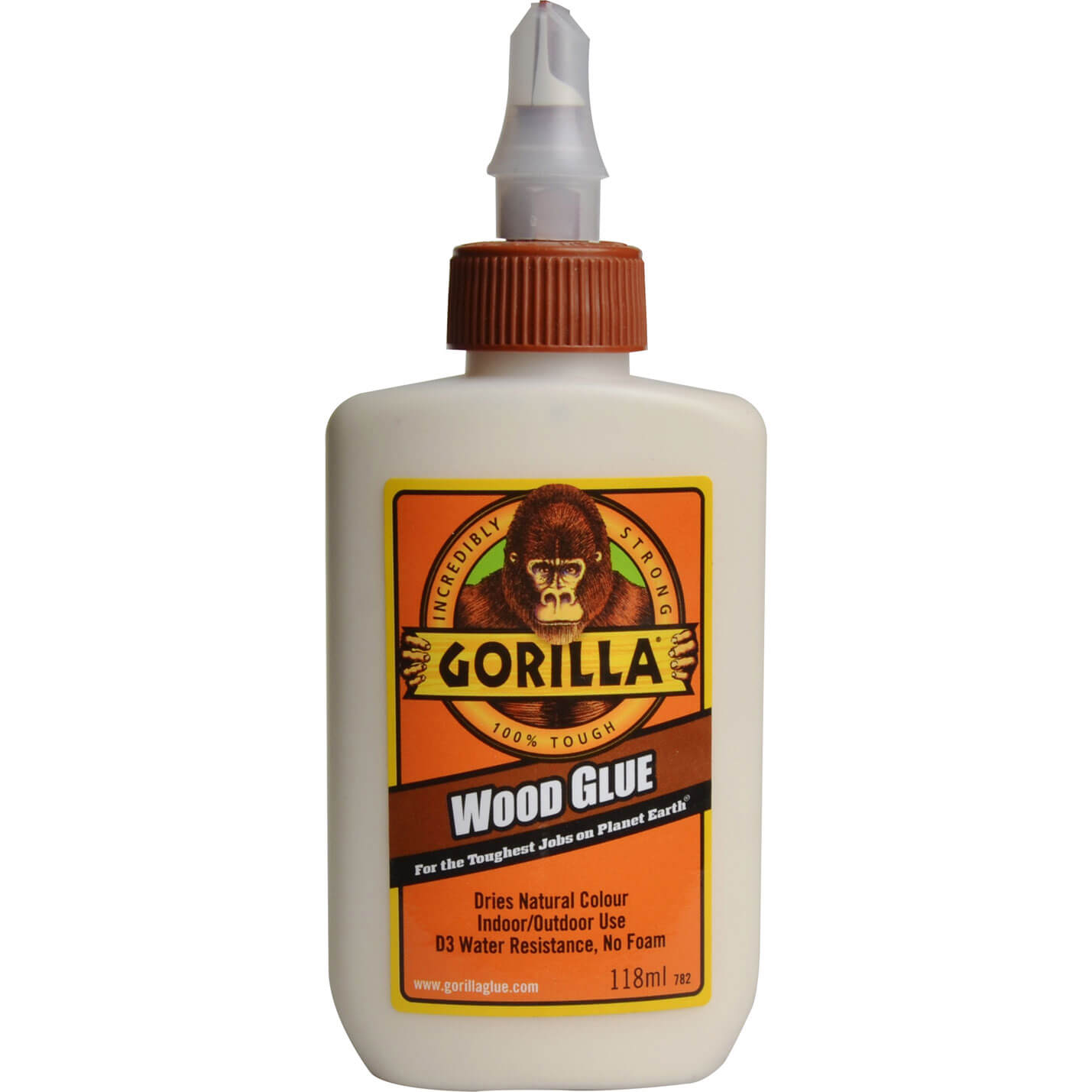 Wood Glue 118ml Gorilla Wood Glue is a non-toxic water based, solvent ...
