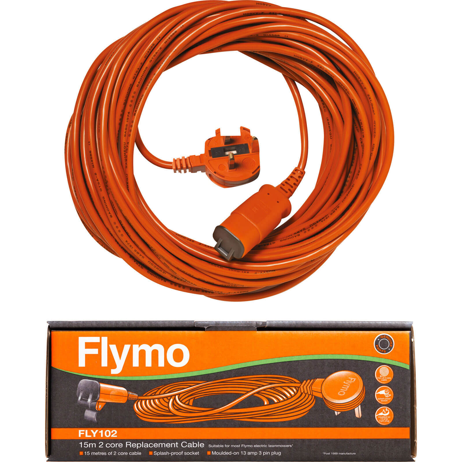 Flymo FLY102 15m Replacement Detachable Cable fits All Flymo Products