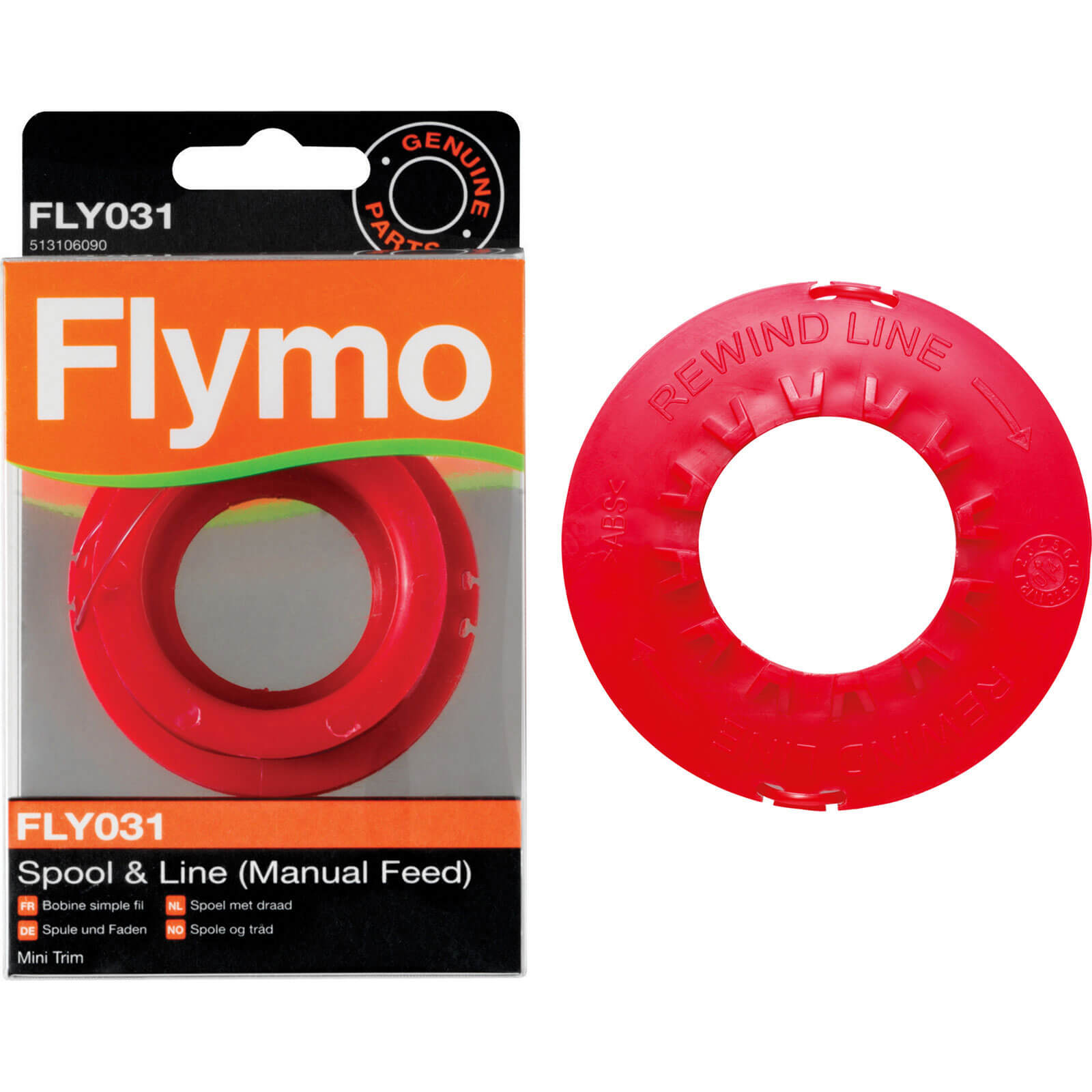 Flymo FLY031 Replacement Spool & Line for Mini Trim Grass Trimmers